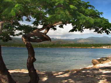 Kubánská provincie Sancti Spiritus se zálivem Playa la Boca