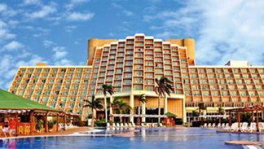 Pohled na hotel Blau Varadero, Kuba